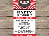 Ninja Party Invitation Template 40th Birthday Ideas Ninja Birthday Invitation Templates