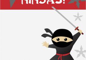 Ninja Party Invitation Template Birthday Party Invitation Template 2 Free Templates In