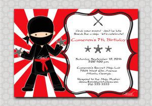Ninja Party Invitation Template Ninja Birthday Invitation Printable Party by Swishprintables