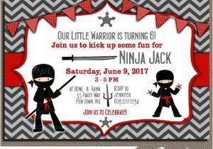 Ninja Party Invitation Template Ninja Birthday Party Invitation Ninja Warrior Birthday Party