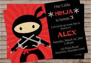 Ninja Party Invitation Template Ninja Party Birthday Invitation