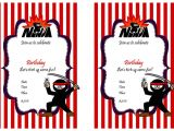 Ninja Party Invitation Template Ninja Warriors Birthday Invitations Birthday Printable