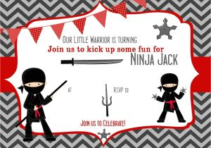 Ninja Party Invitation Template Pin by Bagvania Invitation On Bagvania Invitation Ninja