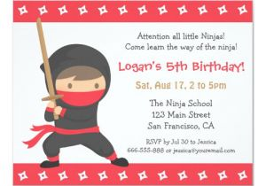 Ninja Party Invitation Template Way Of the Ninja Kids Birthday Party Invitations Zazzle Com