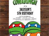 Ninja Turtle Party Invitation Template Free Teenage Mutant Ninja Turtle Invitation Printable