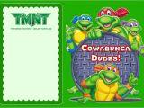 Ninja Turtle Party Invitation Template Free Teenage Mutant Ninja Turtles Another Great Idea for A