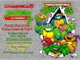 Ninja Turtle Party Invitation Template Free Teenage Mutant Ninja Turtles Birthday Invitations Template