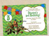 Ninja Turtle Party Invitation Template Free Teenage Mutant Ninja Turtles Invitation Template Instant