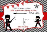 Ninja Warrior Birthday Party Invitation Template Free Pin by Bagvania Invitation On Bagvania Invitation Ninja