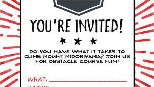 Ninja Warrior Birthday Party Invitations American Ninja Warrior Birthday Party Our Handcrafted Life