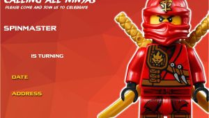 Ninjago Birthday Invitation Template Free Free Printable Lego Ninjago Birthday Free Printable