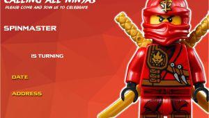 Ninjago Birthday Invitation Template Free Printable Lego Ninjago Birthday Invitation Free