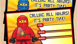 Ninjago Birthday Party Invitation Template Free Free Printable Lego Ninjago Birthday Invitation Set