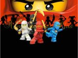 Ninjago Party Invitation Template 4×6 Matching Ninjago Thank You Card 3 by Announcementsplus