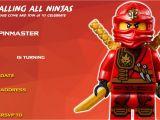 Ninjago Party Invitation Template Free Free Printable Lego Ninjago Birthday Free Printable