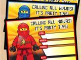 Ninjago Party Invitation Template Free Free Printable Lego Ninjago Birthday Invitation Set