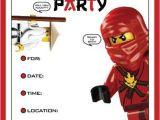 Ninjago Party Invitation Template Free Lego Ninja Invitation Template Kids Party Ideas In 2019