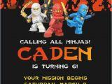 Ninjago Party Invitation Template Free Lego Ninjago Ninja Birthday Party Invitation by