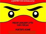 Ninjago Party Invitation Template Free Ninjago Invitation Template Free