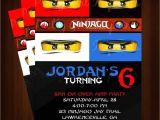 Ninjago Party Invitation Template Ninjago Birthday Invitation