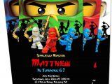 Ninjago Party Invitation Template Ninjago Birthday Invitations