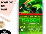 Ninjago Party Invitation Template Ninjago Invitation Ninjago Birthday Ninjago Invitation