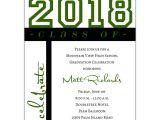 Non Photo Graduation Invitations Class Of Celebration Green Graduation Invitations Paperstyle