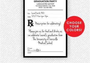 Nurse Practitioner Graduation Invitations Prescription Invitation Pharmacy Nurse Practitioner Np