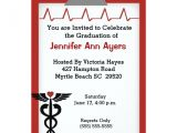 Nursing Graduation Party Invitations Card Nurse Graduation Party Invitation Zazzle