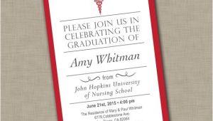 Nursing School Graduation Announcements Invitations Nursing School Graduation Invitation Medical Graduation