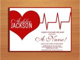 Nursing School Graduation Party Invitations Templates Ekg Heart Nursing Medical Degree Graduation Party Invitation