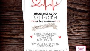 Nursing School Graduation Party Invitations Templates Nursing Pinning Ceremony Invitation Template Nursing