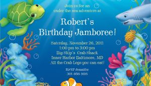 Ocean theme Party Invitations Ocean Party Personalized Invitation Each Cheap themed