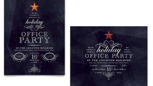 Office Christmas Party Invite Template Office Holiday Party Poster Template Word Publisher