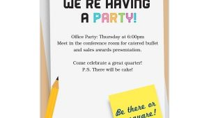 Office Party Invitation Email Fice Party Invitation Email Cobypic