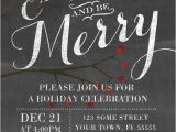 Office Party Invitation Template Editable Chalkboard Holiday Party Invitation Eat Drink and Be