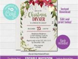 Office Party Invitation Template Editable Editable Christmas Invitation Template Christmas Party
