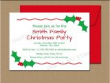 Office Party Invitation Template Editable Editable Christmas Party Invitation Christmas Holly Invite