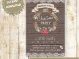 Office Party Invitation Template Editable Items Similar to Holiday Invitation Christmas Party