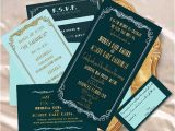 Old Hollywood themed Wedding Invitations Old Hollywood Glamour Wedding Invitation by