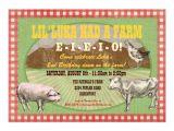 Old Macdonald Had A Farm Birthday Invitations Farm Party Invitation Old Macdonald Had A Farm