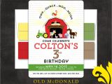 Old Macdonald Had A Farm Birthday Invitations Nealon Design Old Macdonald Farm Birthday Invitation