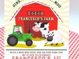 Old Macdonald Had A Farm Birthday Invitations Old Macdonald Had A Farm Birthday Invitations Lijicinu
