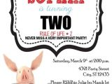Olivia the Pig Birthday Invitations Olivia the Pig Birthday Digital Invitation Diy Digital