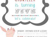 Olivia the Pig Birthday Invitations Sweet Bambinos Real Party Olivia the Pig Birthday Party