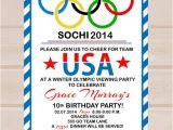 Olympic Birthday Party Invitations Printable Items Similar to Printable Olympic Party Invitation On Etsy
