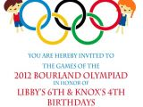 Olympic Birthday Party Invitations Printable Olympic Party Invitation Olympics Birthday Invitation