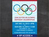 Olympic Birthday Party Invitations Printable Olympics Ticket Birthday Invite Let the Games Begin Custom