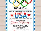 Olympic Party Invitations Items Similar to Printable Olympic Party Invitation On Etsy