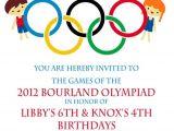 Olympic Party Invitations Olympic Party Invitation Olympics Birthday Invitation Digial